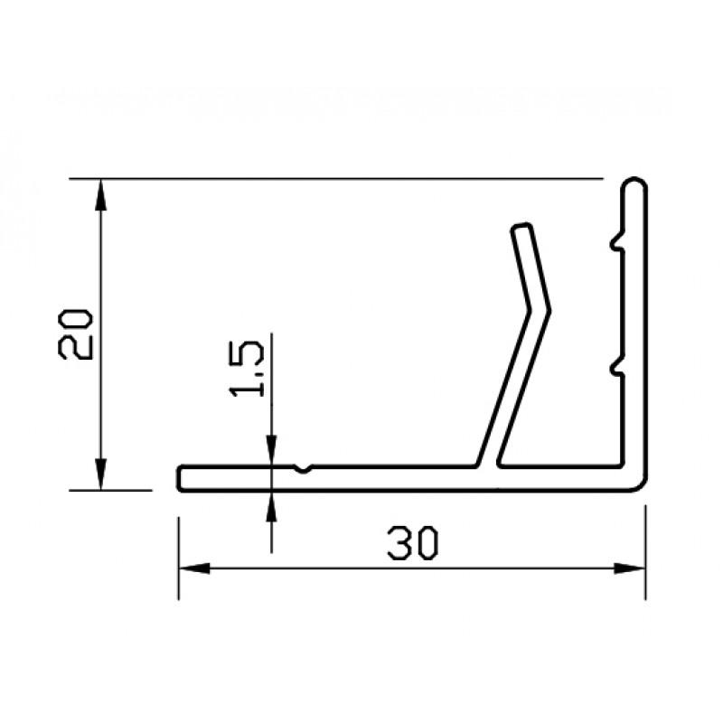 F-profile for composite panel