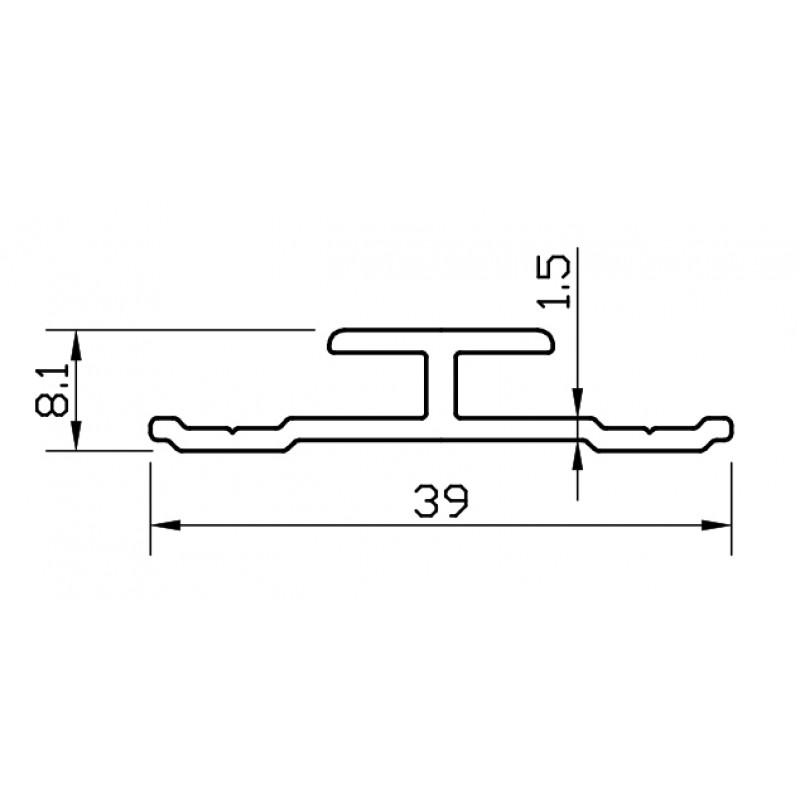 H-profile for composite panel